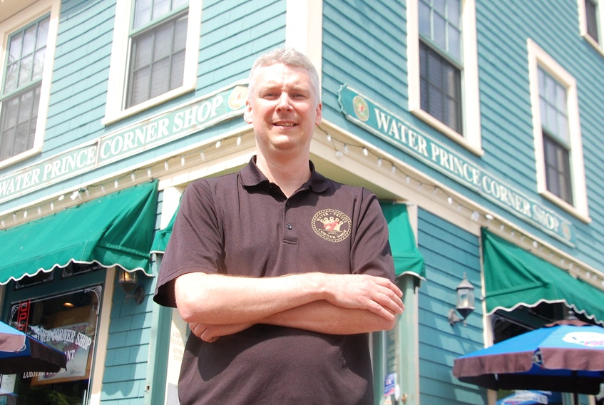 """Coady Campbell, manager of the Water Prince Corner Shop in Charlottetown, disputes a man's claim that a waitress at the restaurant """"sexualized'' a teenager wearing a bikini with a shirt over top by telling her to cover up."""