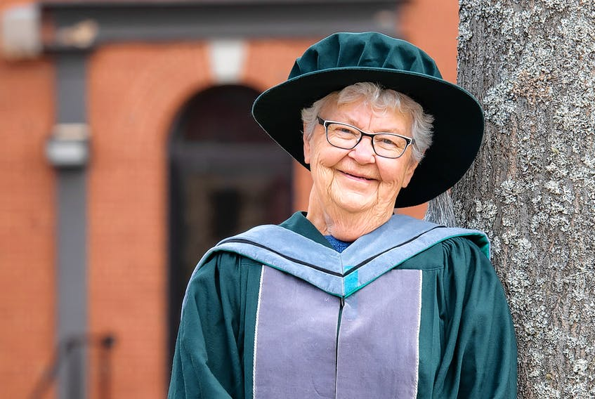 Olive Bryanton, 82, will be the oldest student to ever receive a PhD from UPEI when she crosses the stage at today's convocation.