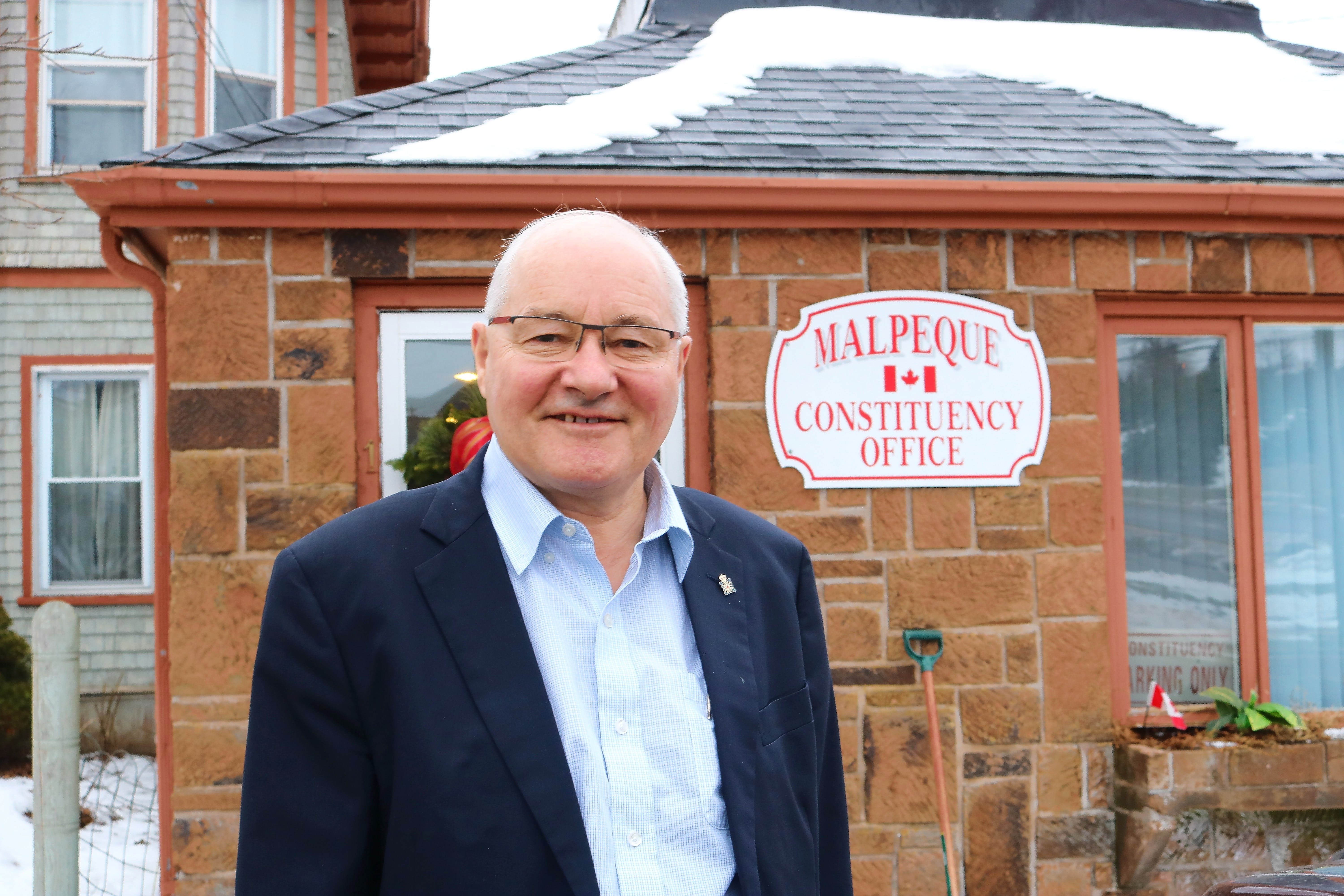 Wayne Easter at his constituency office in Hunter River. After 25 years serving as MP for Malpeque, Easter says he is ready to run one more time.