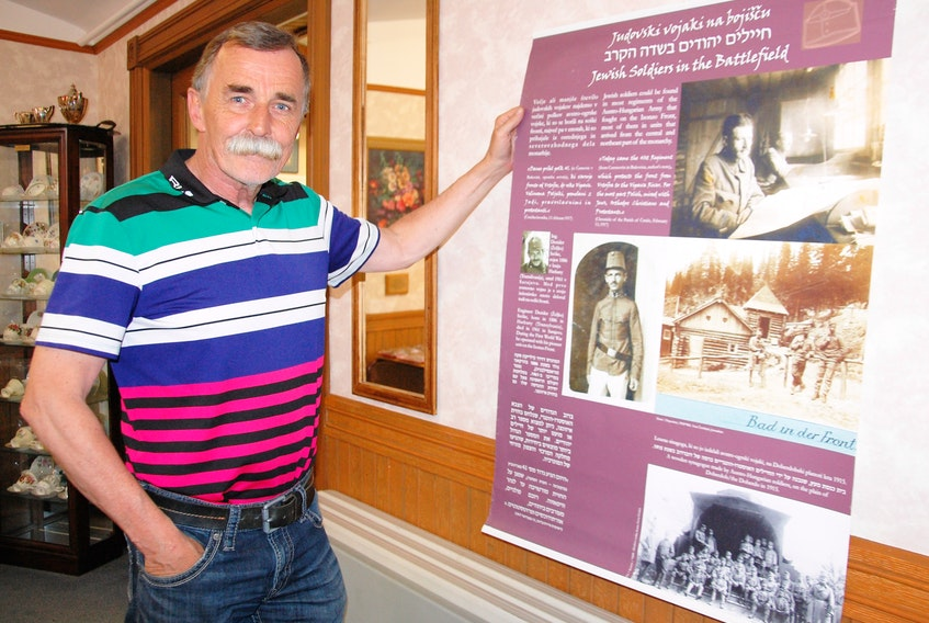 """John Barrett has collaborated with the Embassy of the Republic of Slovenia to bring the """"Jewish Soldiers on the Isonzo Front"""" exhibit to Charlottetown's Zion Presbyterian Church on June 5. The public is welcome to view the exhibit beginning at 2 p.m. with the Slovenian Republic Ambassador to Canada speaking at 7 p.m."""