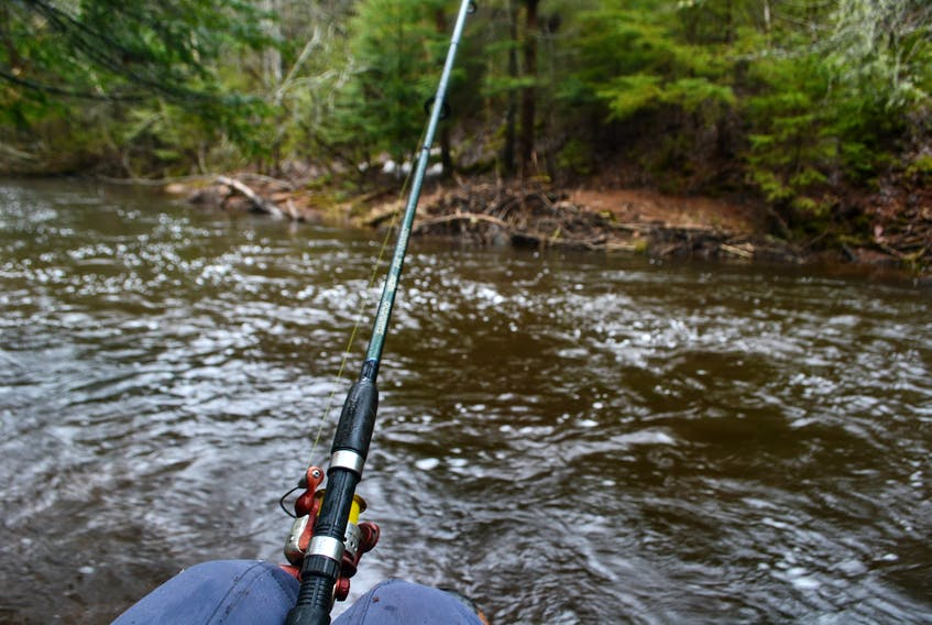 Winter River is just one of the popular fishing spots in Queens County. Monday turned out to be a cold, wet first day of recreational fishing.