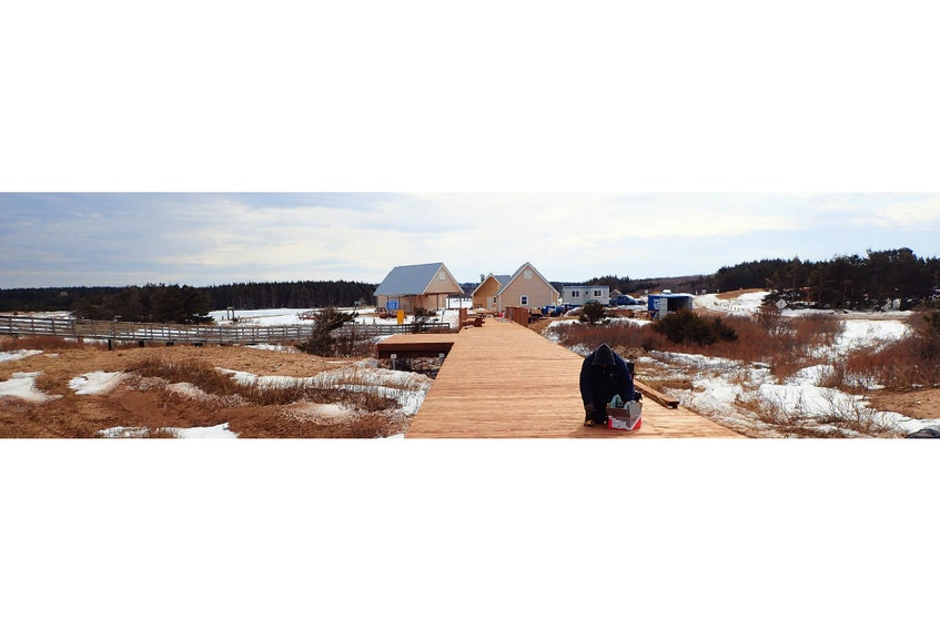 Parks Canada is in the midst of a $1-million boardwalk project at Cavendish Beach that is expected to continue until May 19. The beach facility is closed as work continues. The old boardwalk can be seen off to the left.