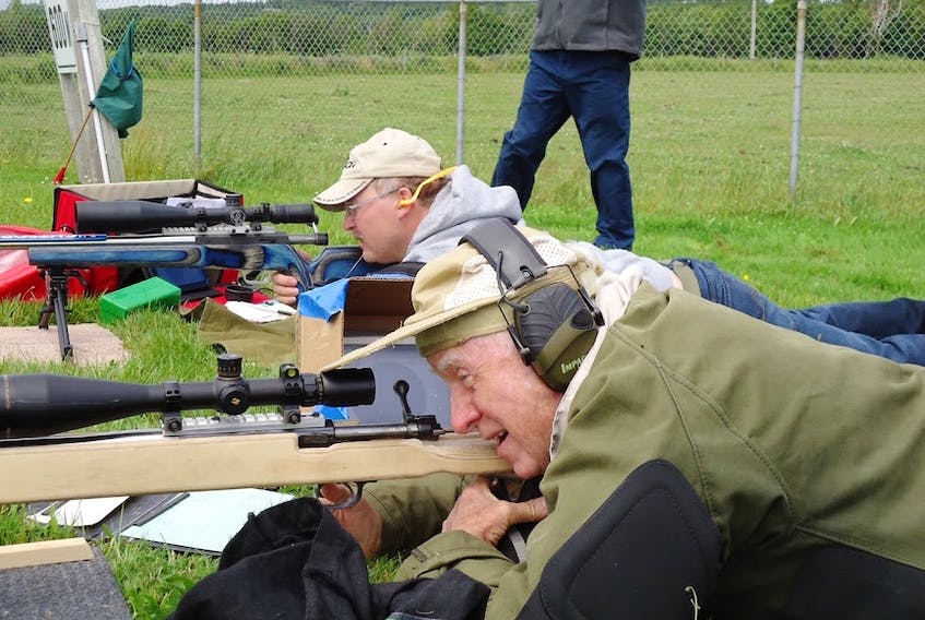 Competitors are shown in action at the P.E.I. Rifle Association championships on the Alexandra range outside of Charlottetown in this 2015 file photo. (PEIRA Photo)