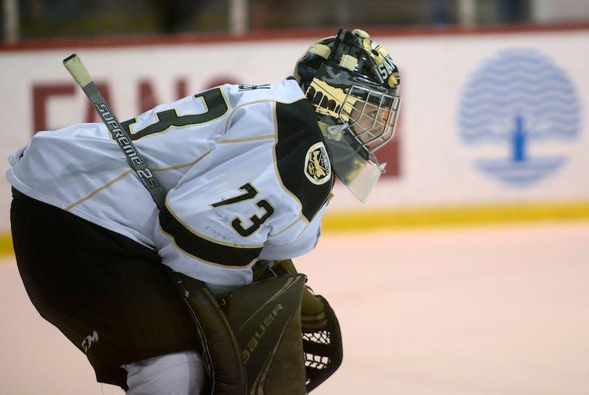 Charlottetown Islanders goalie Matthew Welsh is off to the Buffalo Sabres development camp.