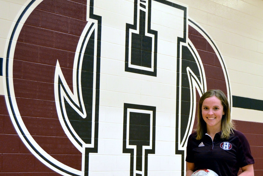 Laura Younker, who played for the Holland College women's soccer team from 2012-15, will return to the college this fall as an apprentice in the Canadian Collewgiate Athletic Association (CCAA) female apprentice coach program.