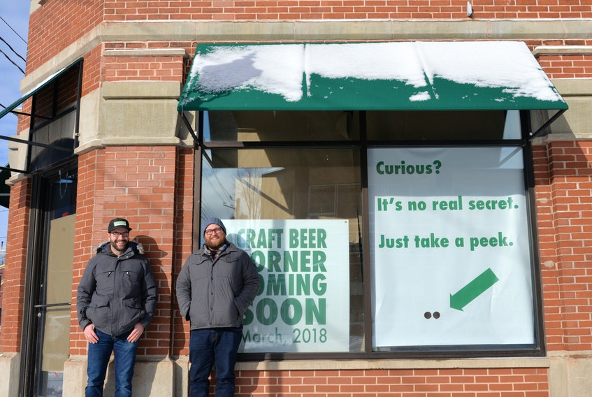 Upstreet Craft Brewing co-owners Mike Hogan, left, and Mitch Cobb, are planning to open a secondary retail location with 24 taps for in-house customers.