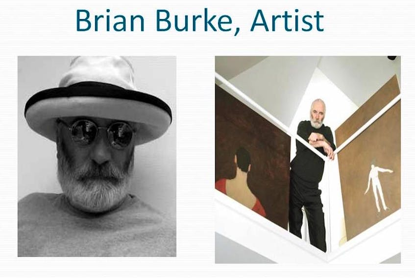 Canadian figurative artist Brian Burke, who divided his time between his home on P.E.I. and Swtizerland died Tuesday. A wake is being planned. SUBMITTED PHOTOS