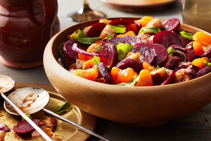 A roasted beet and mandarin panzanella salad is a perfect choice for Eat Together Day, which is being held on June 14.