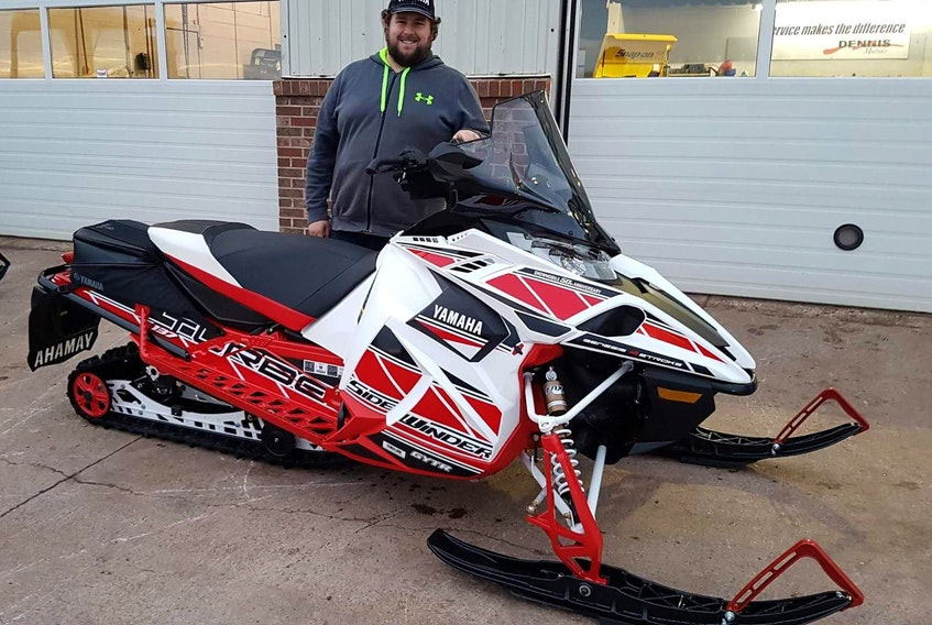Logan Getson, board member of the P.E.I. Snowmobile Association, is looking forward to a great snowmobiling season and reminds riders to use caution and to be safe out on the trails.