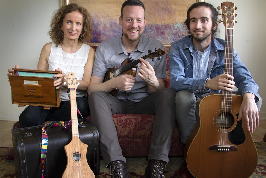 """Teresa Doyle, Ward MacDonald, centre, and Patrick Bunston will be on stage at the Kings Playhouse in Georgetown on July 20 for the debut of """"Backroads""""."""