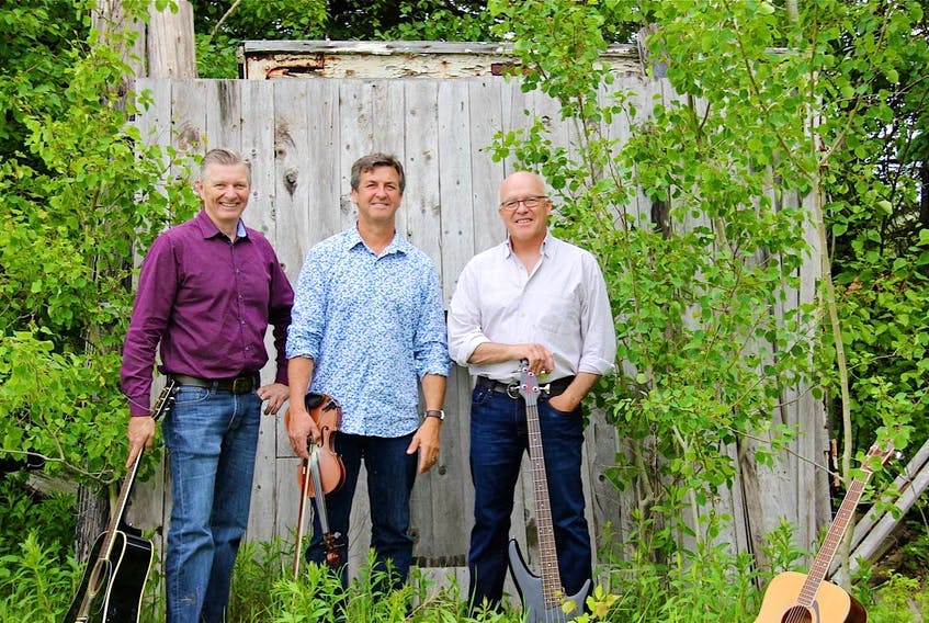 Clive Currie, left Allen Betts and Wade Murray will be performing at Winsloe United Church on Monday, May 13.