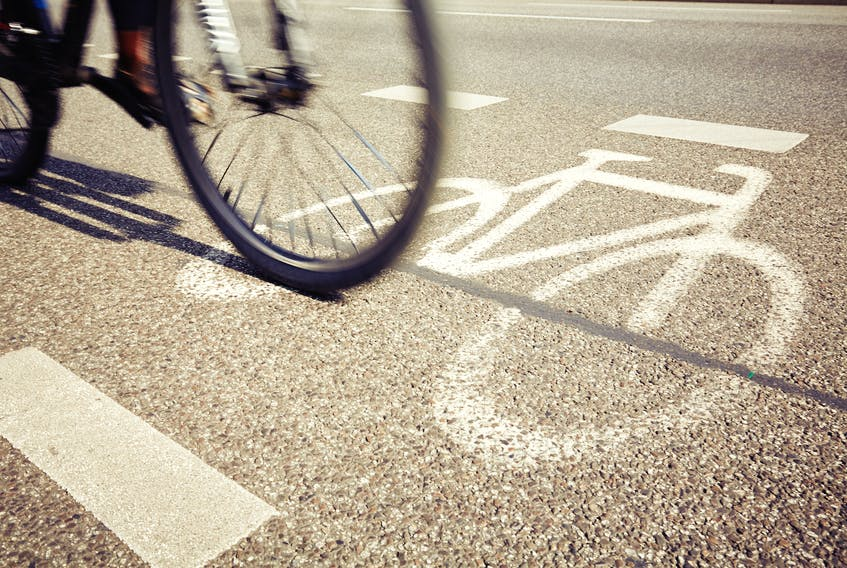 Charlottetown Coun. Mike Duffy suggested that it may be time to require cyclists to register and display a licence plate.