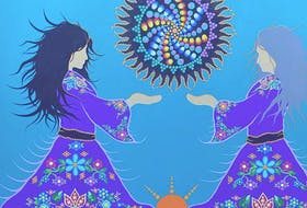 """""""Keepers"""" by Mi'gmaq artist Tracey Metallic was unveiled as the visual theme for the Circle of Abundance initiative during a recent virtual announcement."""