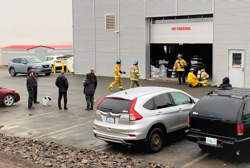 Onslow Belmont Fire Brigade members responded to a strange odor at the Truro Nissan dealership early this morning.