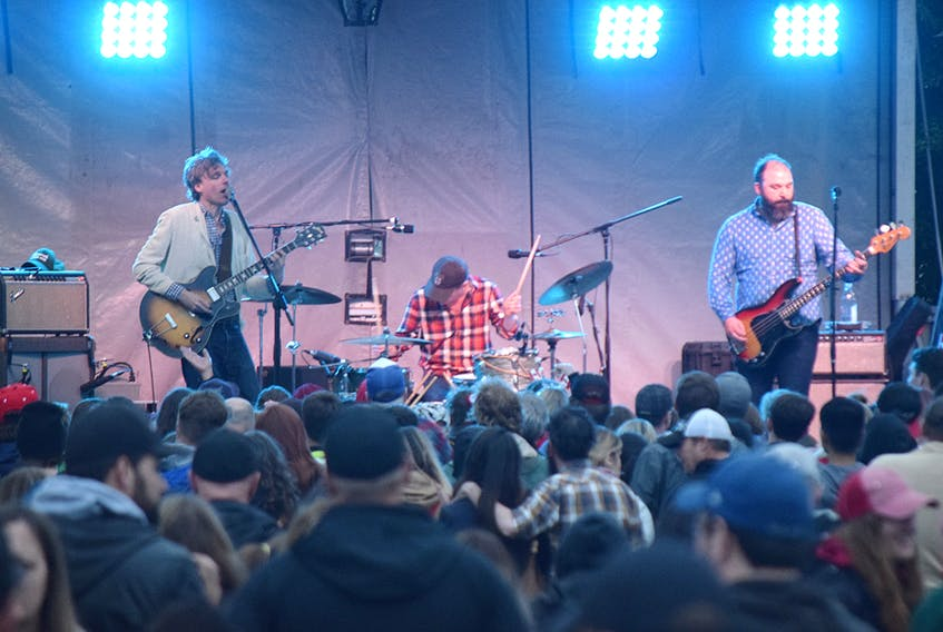 Joel Plaskett Emergency helped mark Canada's birthday in Truro, taking the stage for a free concert at the Civic Square Monday night.