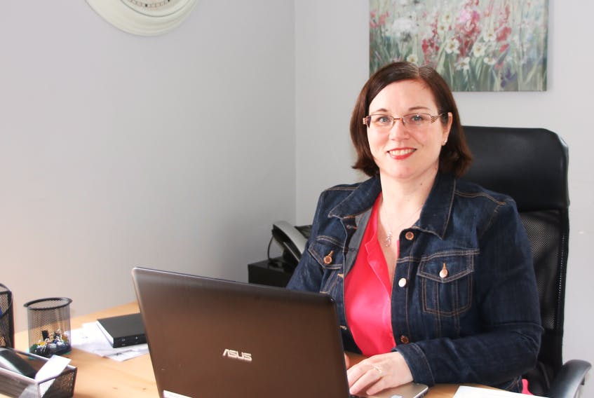 Leah Poirier, autism support coordinator with the Truro chapter of Autism Nova Scotia, is now operating out of the chapter's new office space in the Colchester-East Hants Hospice building. This is the first time the chapter has had a physical location.
