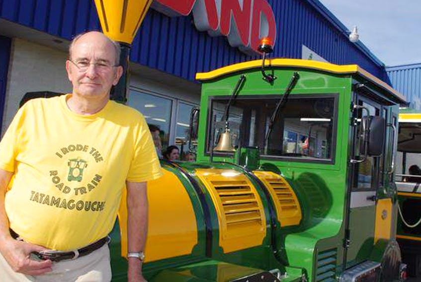 Dave Gunn with the Tatamagouche Road Train in 2016.   Aaron Beswick/The Chronicle Herald