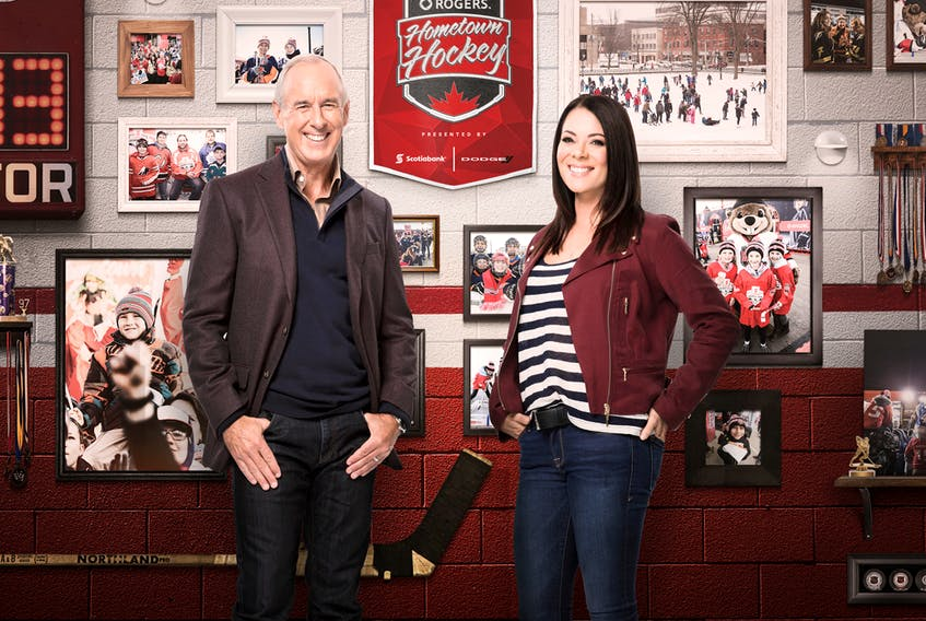 Ron MacLean and Tara Slone are co-hosts for Rogers Hometown Hockey.