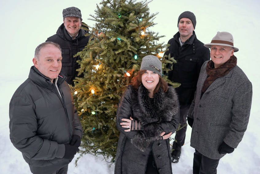 The five siblings that make up the Barra MacNeils, from back left, Stewart, Seamus, Lucy, Kyle and Boyd, are looking forward to bringing their National Christmas Tour 2018 show to the Homburg Theatre of Confederation Centre of the Arts.