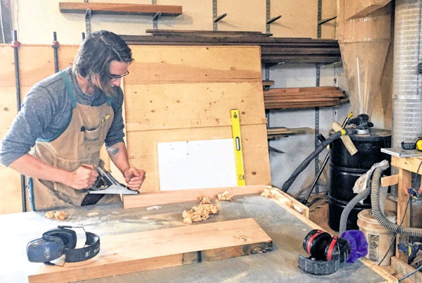 Furniture maker Gary Staple works in his Seaforth shop. Staple uses only the finest woods in order to complete customized products for various clients in Nova Scotia. (BILL SPURR • THE CHRONICLE HERALD)
