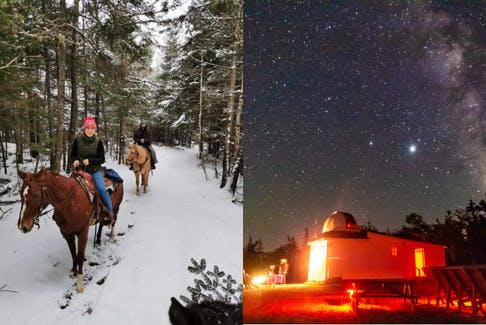 From horseback riding and fat biking to stargazing and exploring our heritage, there are so many fun ways to spend your winter in Nova Scotia. - Photo Contributed.