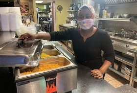 Mary Nkrumah is the chef at Mary's African Cuisine, which will feature its beloved pumpkin seed and spinach stew as part of its Dine Around offering. - Photo Courtesy Sara Ericsson.