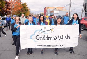 Maia Zann-Roland, centre, is off to the Caribbean next year, thanks to the Children's Wish Foundation. FRAM DINSHAW/TRURO NEWS