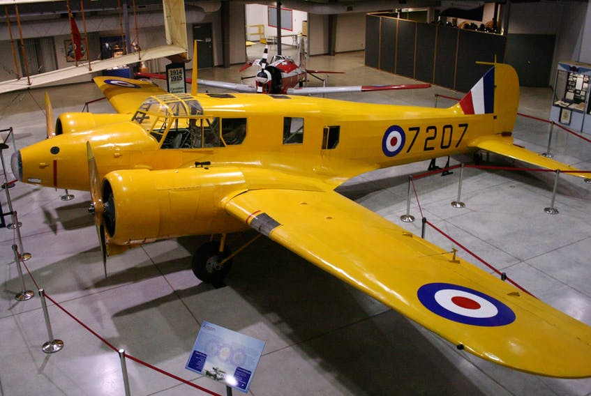 This Anson MKII is located at the National Museum of the Royal Canadian Air Force in Trenton, Ont. Some 400 of these aircraft were manufactured in Amherst during the Second World War and used at training centres around the province and across Canada as part of the British Commonwealth Air Training Plan. Atlantic Canada Aviation Museum photo