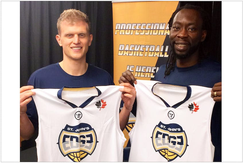Tyler Haws (left) and Ransford Brempong are the newest members of the St. John's Edge