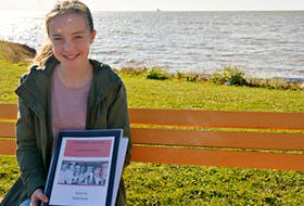 Ardyn Hardy, from Chelton, receives national honour for history video. DESIREE ANSTEY/JOURNAL PIONEER