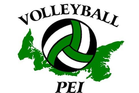 Volleyball P.E.I. logo.