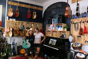Ashley and Tony Wood, owners of The Spoke and Note in downtown Windsor, have been busy filling their store with everything cyclists and musicians need.