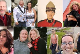 Some of the victims of Nova Scotia's mass killing, from left to right: Top: Tom Bagley, Greg and Jennifer Blair and Lisa McCully. Bottom: Heather O'Brien, Alanna Jenkins and Sean McLeod, Emily Tuck, Jolene Oliver and Aaron (Friar) Tuck.