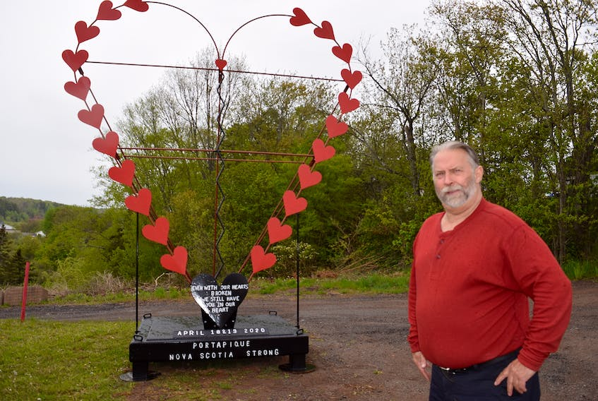 Salmon River welder and fabricator Wayne Smith is hoping he can find a proper home for the Broken Heart memorial he created to honour Nova Scotia's recent shooting victims.