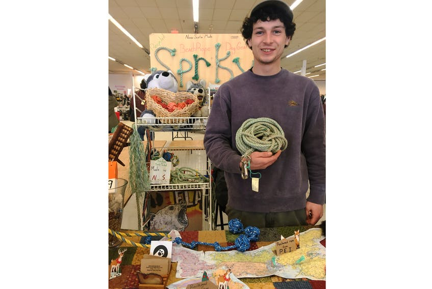Evan Ferguson's dog toys, collars and leads are made from recycled rope and are pre-tested on his own dog.