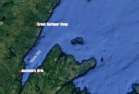 This Google map shows the area where the snowmobilers were reported missing.
