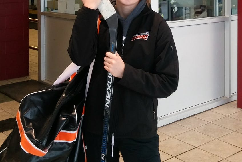 Alex Kidd was an accomplished alpine skier in Northern Ontario, but she found out that female hockey was pretty cool when she moved to Stephenville two years ago. Her weekends are spent honing her hockey skills with the Western Warriors of the provincial female AAA bantam league instead of strapping on a pair of alpine skis like she did when living in Elliott Lake.