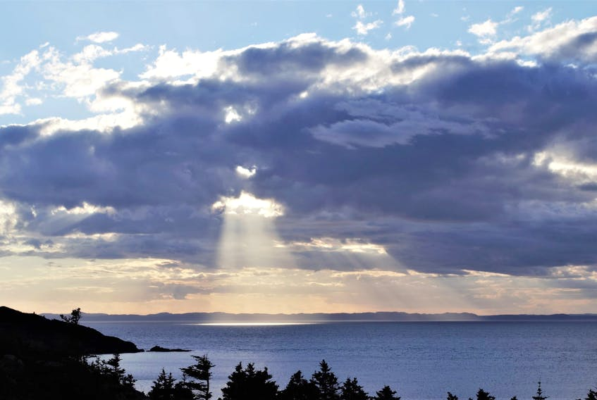 Earlier this month, Jerome Canning spotted sunbeams over New Perlican, N.L. He says the wonderment he first felt as a child at seeing sunbeams has never changed.