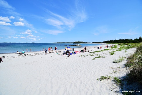When the heat and humidity reach oppressive levels in the city, many seek relief at the water's edge. Warren Hoeg snapped this lovely photo last month at Taylor Head Provincial Park Beach along Nova Scotia's Eastern Shore, N.S. That sand sure does look inviting…