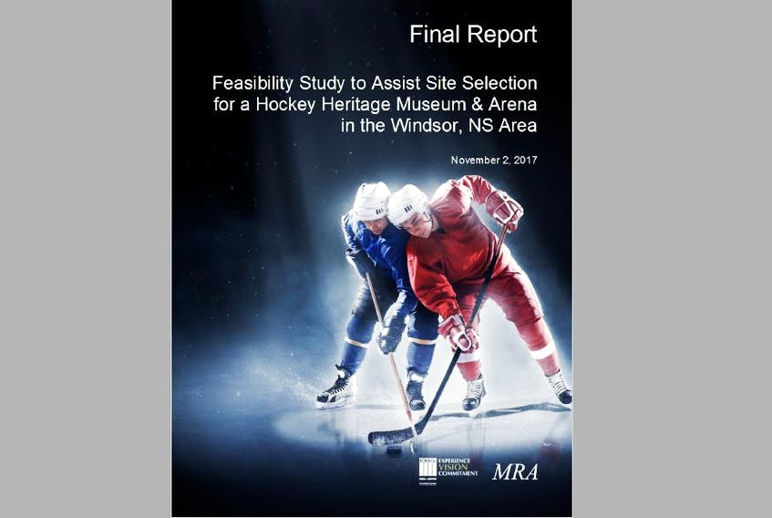 The feasibility study to aid Windsor and West Hants councils in determining an appropriate site for the new hockey heritage arena and museum was released to stakeholders Nov. 14, 2017.