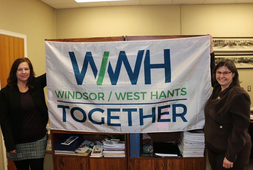 Returning officer Rhonda Brown, right, and assistant returning officer Shelleena Thornton are hard at work getting ready for the March municipal election — one that will see the Town of Windsor and Municipality of West Hants merge into one regional unit. CAROLE MORRIS-UNDERHILL