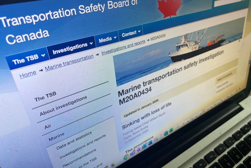 The Transportation Safety Board continues to investigate the sinking of the Chief William Saulis that occurred on Dec. 15.