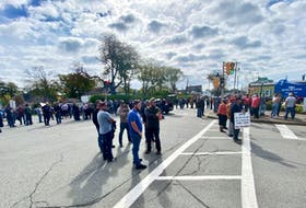 Commercial lobster fishermen and family members held a protest in Yarmouth on Oct. 2 to send the message to DFO that their voices matter too. TINA COMEAU PHOTO