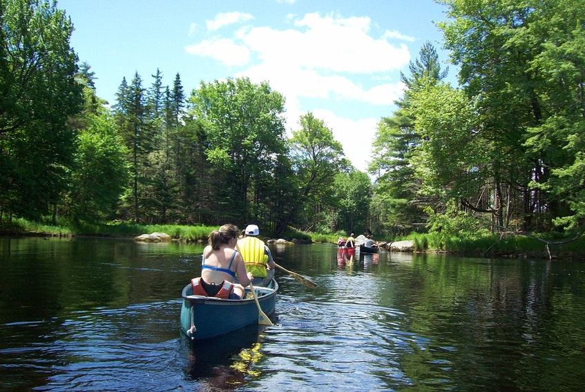 Canoe trip on the Tusket River system. Gil Surette Photo