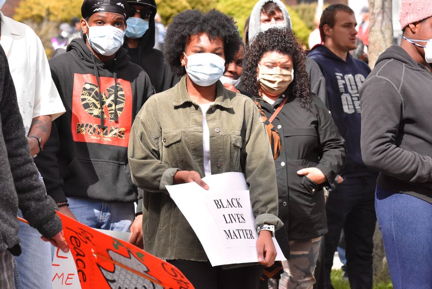 A Black Lives Matter and anti-racism rally was held in Yarmouth on June 7. TINA COMEAU PHOTO