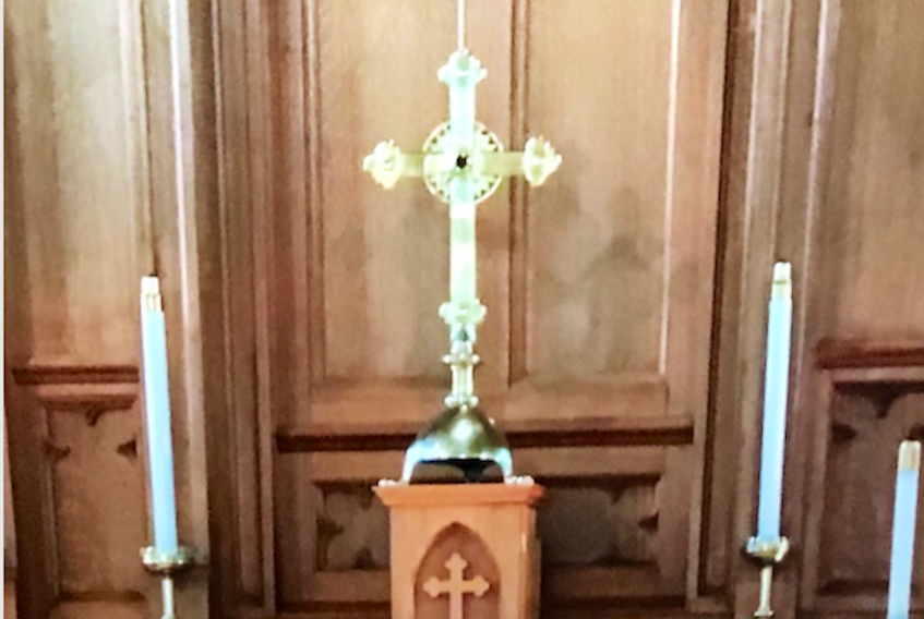 This 100-year-old cross was stolen from the Trinity Anglican Church in Digby. RCMP PHOTO