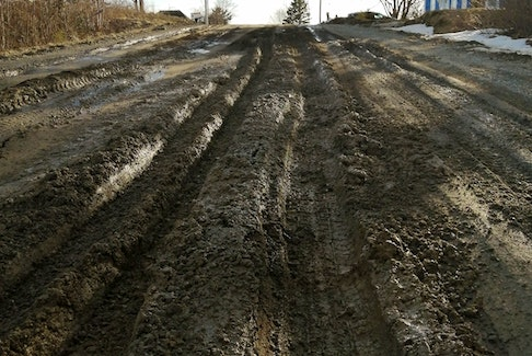 The condition of the Lake George Road in Yarmouth County in early 2021.