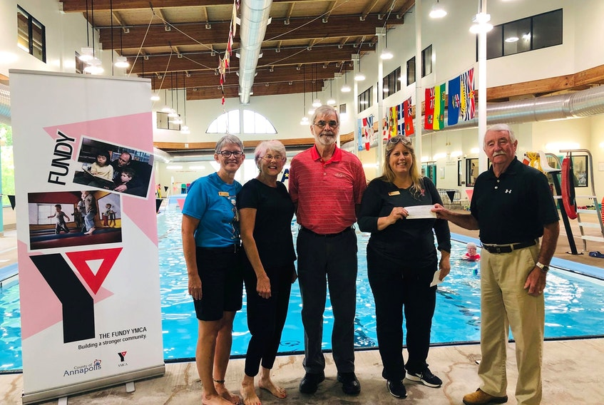 A lot of gratitude is being expressed to the Annapolis West Health Foundation (AWHF), which has once again has extended generous financial support to the Fundy YMCA WaterART aquatic fitness programs. CONTRIBUTED