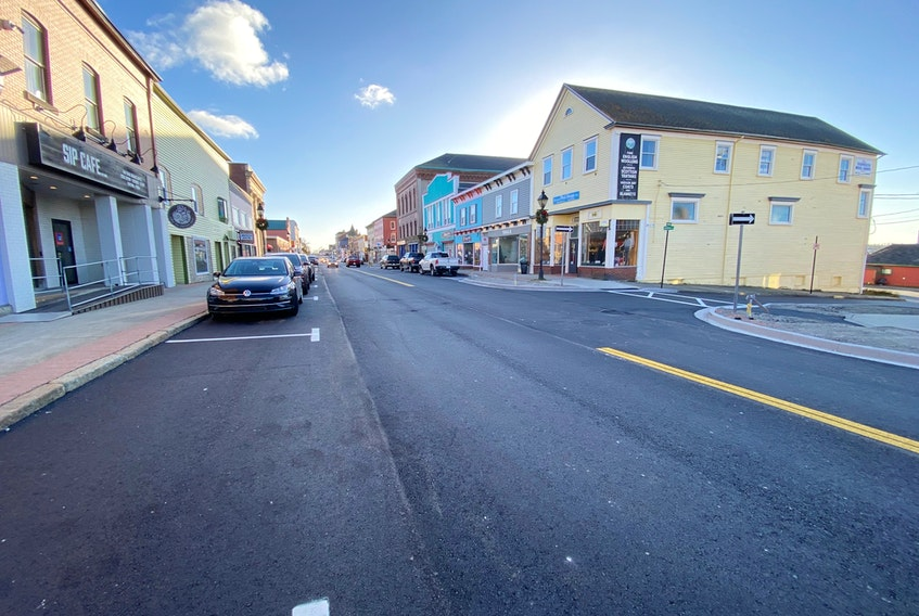 Redevelopment work was carried out on Main Street in Yarmouth in 2020 as part of a continued streetscape project. CARLA ALLEN PHOTO