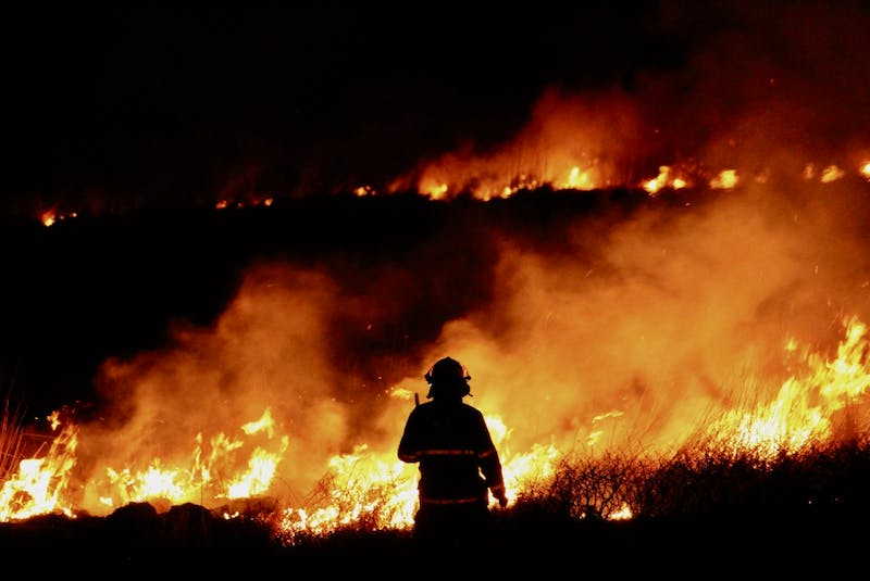 Grass fires that burn out of control are very taxing on firefighting resources. TINA COMEAU PHOTO